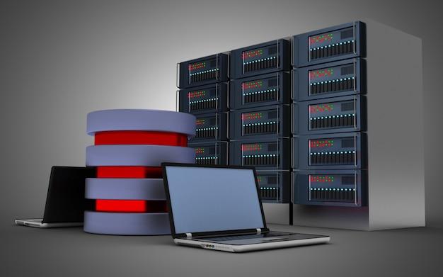 3d 컴퓨터 네트워크 개념입니다. 3d 그림
