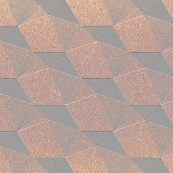 3d медная бумага ремесло семиугольной узорной фон