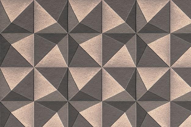 3d copper paper craft pentahedron patterned background