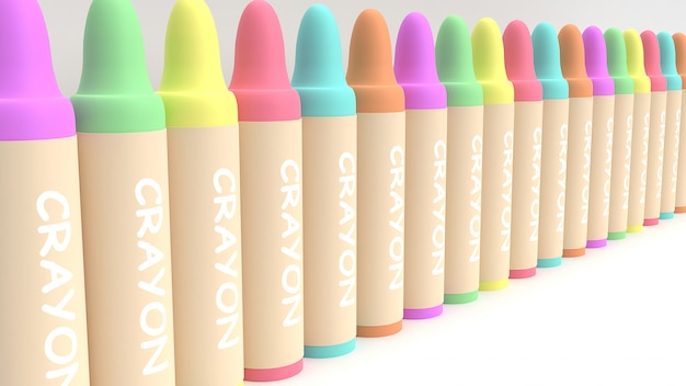 3d crayons render