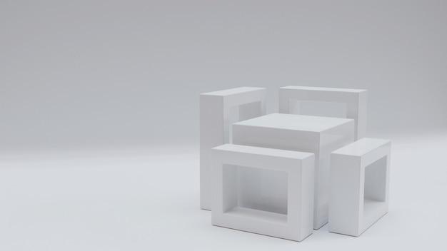 スタンドまたは製品のショーケース用の3dキューブ