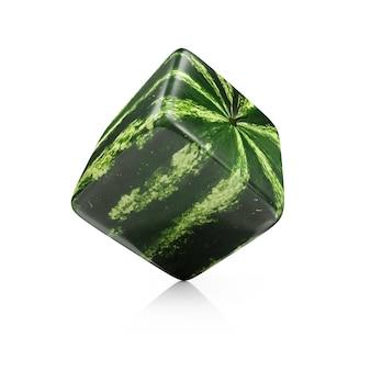 3d куб арбуз изолированные