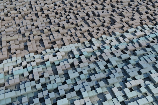 3d cubes with a grunge texture