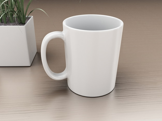 3d cup of coffee. mockup