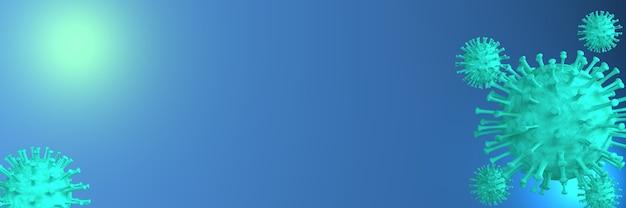 青で3dシアン移動ウイルス細胞