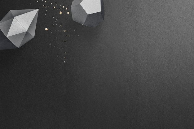 3d 짙은 회색의 길쭉한 육각형 2각뿔과 회색 오각형 12면체