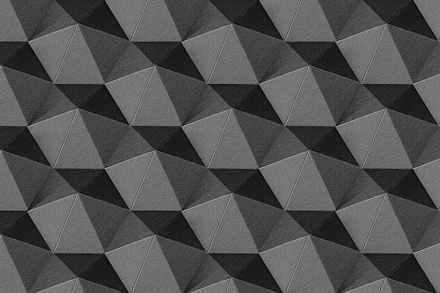 3d 짙은 회색 종이 공예 칠각형 무늬 배경