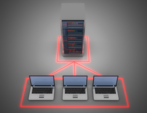 3d data center concept. 3d illustration