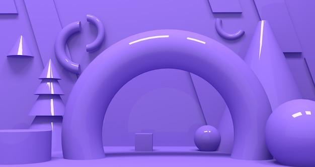 3d глубина и реалистичность фона. 3d рендеринг.