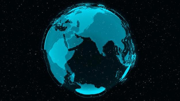 3d digital earth показывает концепцию глобальной сети