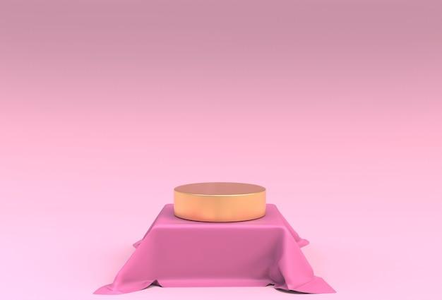Макет 3d-дисплея в розовом цвете