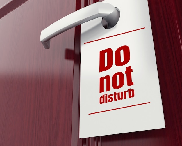 3d do not disturb sign.