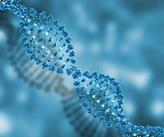 3D DNA strands medical background