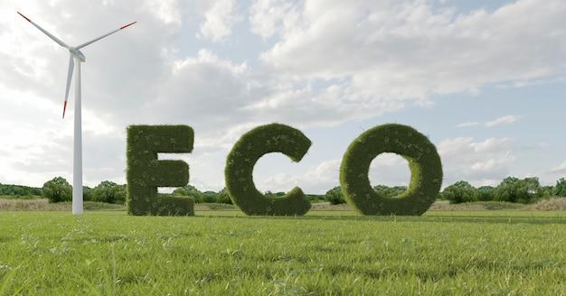 Progetto ecologico 3d per l'ambiente
