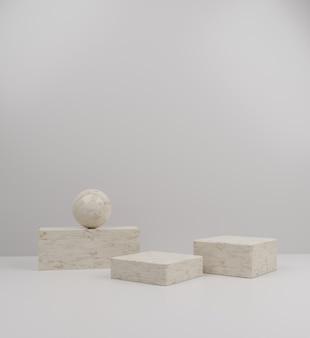 3d elegant mockup marble podium