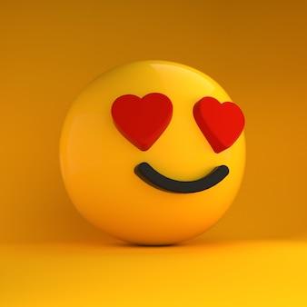 3d emoji in love