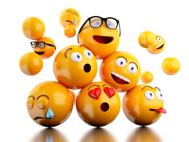 3d иконки emojis с мимикой.