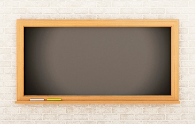 3d empty blackboard. education concept.