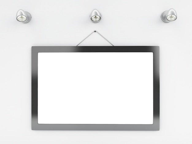 3d empty frame template with place for your text and design