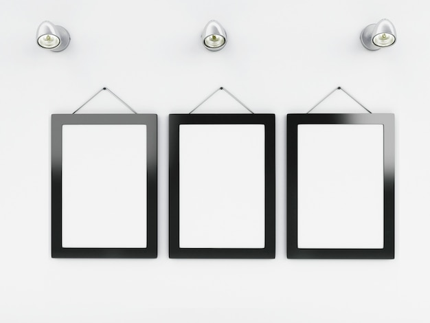 3d empty frames template with place for your text and design