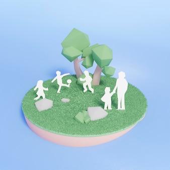Сцена проекта 3d среды Бесплатные Фотографии