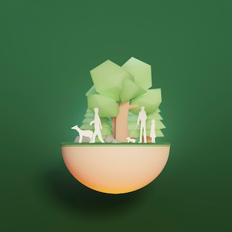 Scena del progetto ambiente 3d
