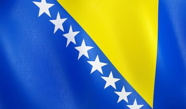 3d flag of bosnia-herzegovina.
