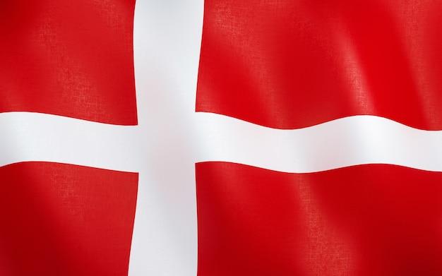 3d flag of denmark.