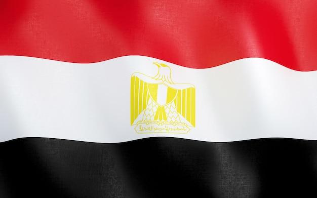 3d flag of egypt.