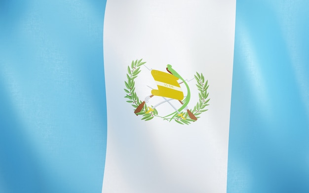 3d flag of guatemala.