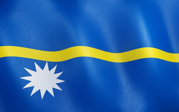 3d flag of nauru.