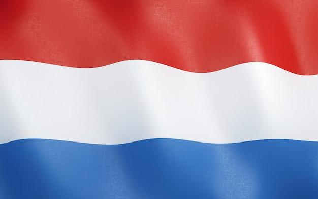 3d flag of netherlands.
