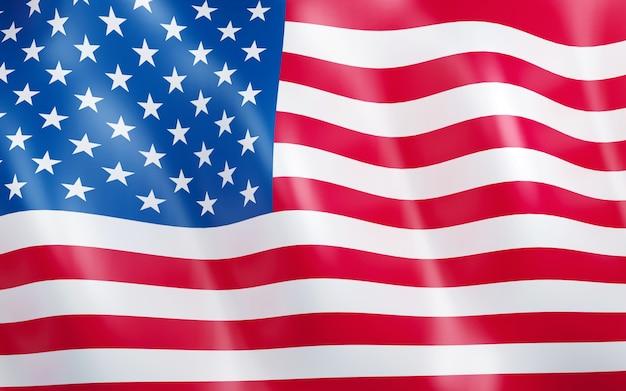3d-флаг соединенных штатов америки.