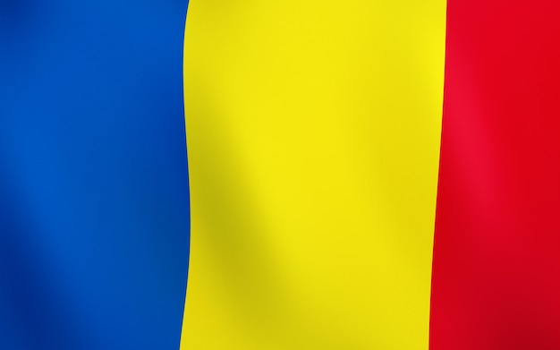 3d flag of romania.