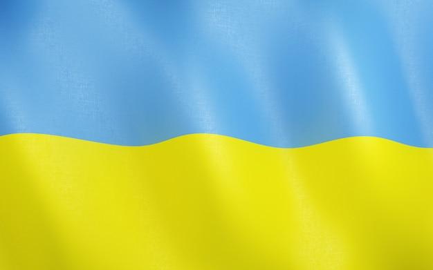 3d flag of ukraine.