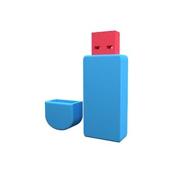 3d 플래시 드라이브 아이콘입니다. 3d 렌더링 플래시 드라이브 아이콘입니다. 3d 플래시 드라이브의 그림입니다.