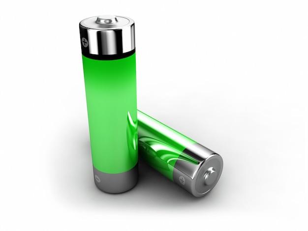 3d символ полной батареи белый изолированный
