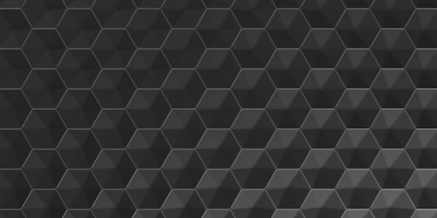 3d geometric abstract hexagonal wallpaper background
