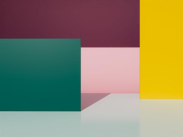 3d geometric  background.