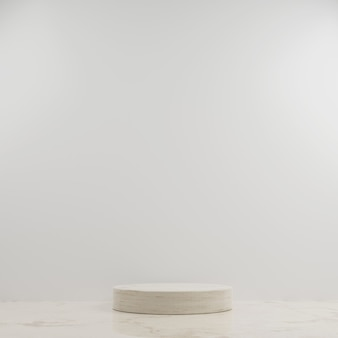 3d geometric circle marble podium for product placement