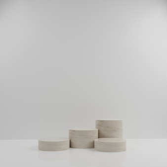 3d geometric marble podium for product placement