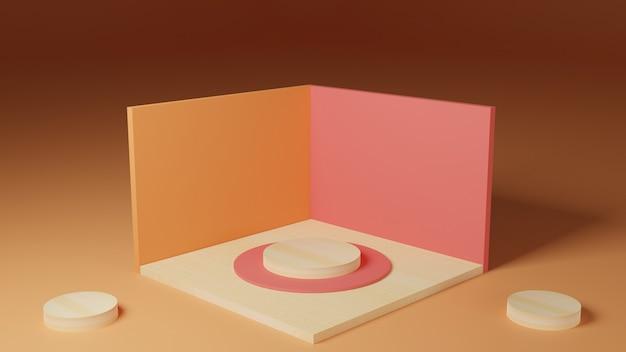 製品展示用の3d幾何学的表彰台