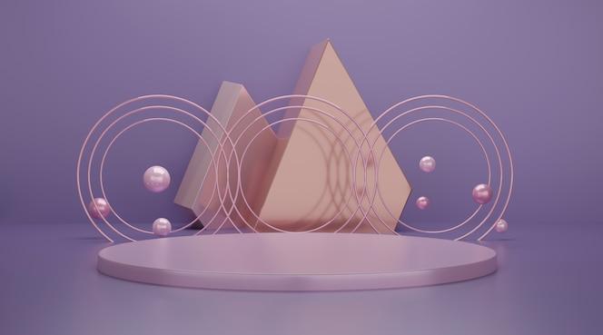 3d геометрическая сцена подиума для отображения продукта.