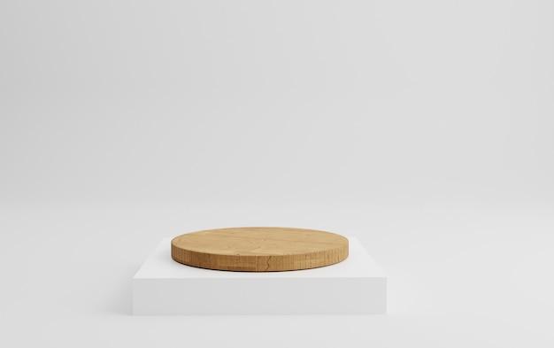 3d геометрический деревянный подиум для размещения продукта