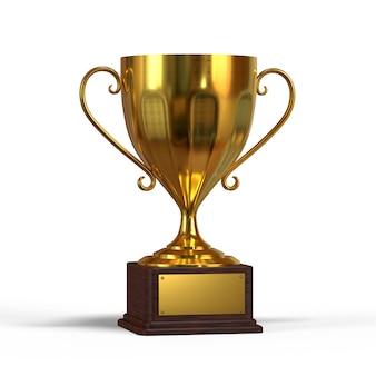 3d золотой трофей кубок большой блеск 3d рендеринг иллюстрация