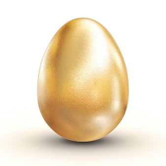 3d golden egg