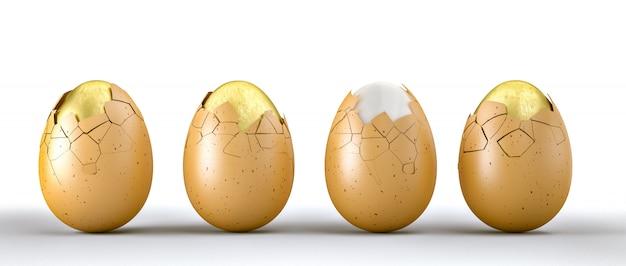 3d golden eggs