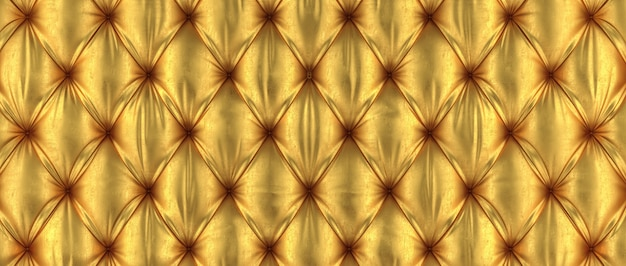 3d golden tufted background