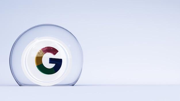 3d логотип google с белым фоном