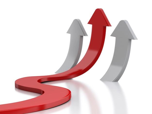 3d график стрелка. успех в бизнесе.